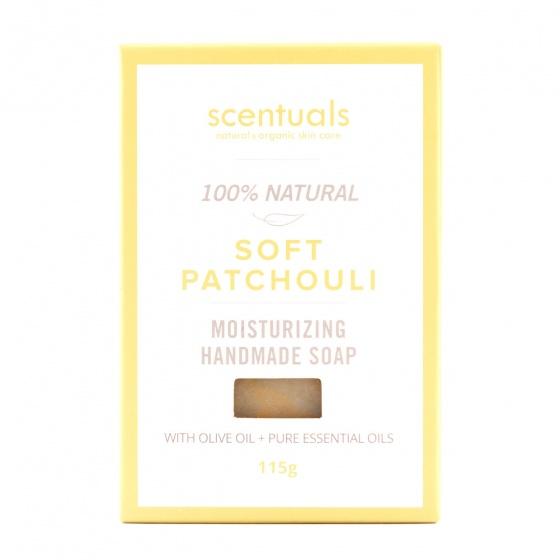 Xà bông cục Scentuals hương hoắc hương dịu nhẹ - Soft Patchouli handmade soap 115g
