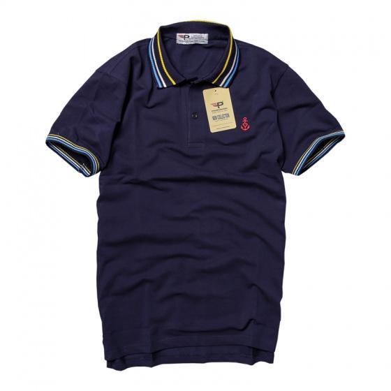 Áo thun nam polo cổ dệt chuẩn phong cách Pigofashion AHT15 màu xanh đen