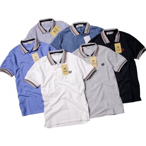 Áo thun nam Polo cổ dệt chuẩn Xmen pigofashion cao cấp AHT12 màu trắng