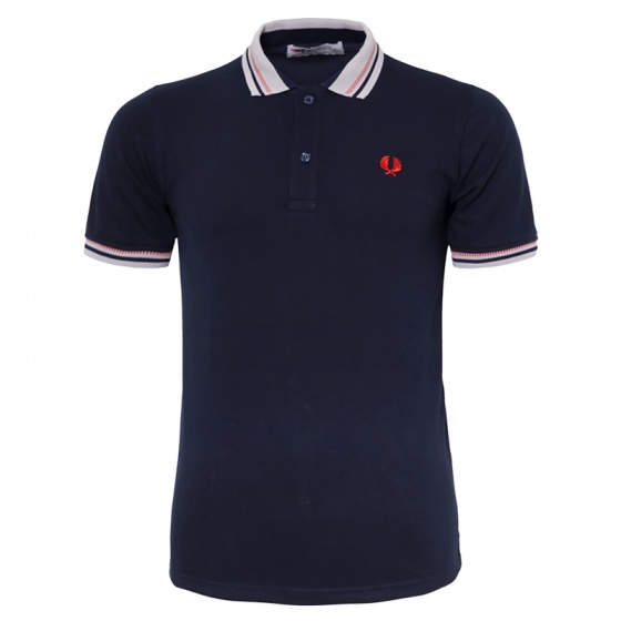 Áo thun nam Polo cổ dệt chuẩn logo bông lúa chuẩn men pigofashion cao cấp AHT12 xanh đen