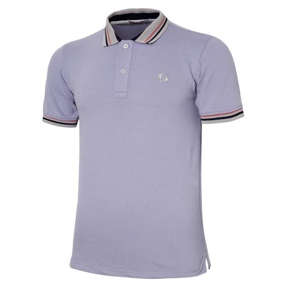 Áo thun nam Polo cổ dệt chuẩn logo bông lúa chuẩn men pigofashion cao cấp AHT12 xanh môn