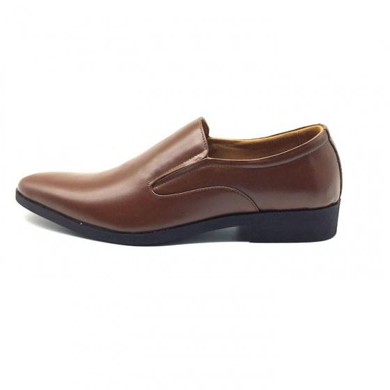 Giày lười công sở nam da bò cao cấp N101MN(nâu) Lucacy-Tặng tất khử mùi