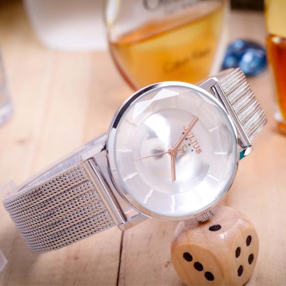 Đồng hồ nữ dây thép chính hãng Julius Hàn Quốc JA-1129A (bạc)