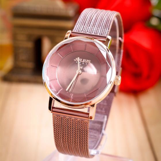 Đồng hồ nữ dây thép chính hãng Julius Hàn Quốc JA-1129D tím