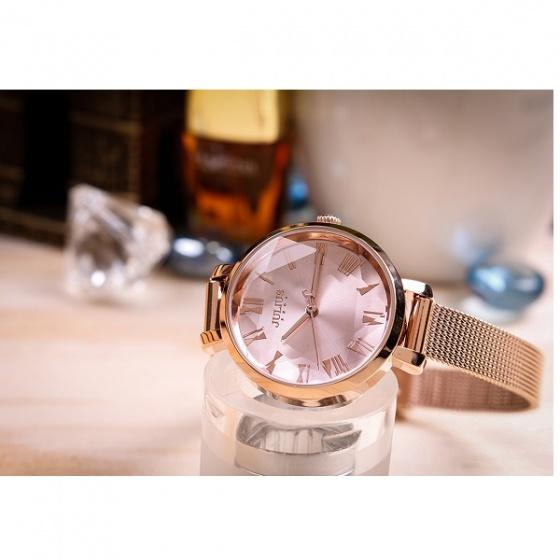 Đồng hồ nữ Julius Hàn Quốc JA-1019C dây nhuyễn (vàng hồng)