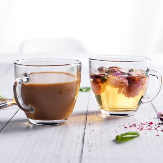 Bộ tách trà thủy tinh chịu lực Duralex lys Gigogne trong 220 ml (bộ 6 ly và 6 dĩa)