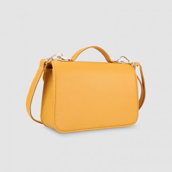 Túi hộp đeo chéo nữ dáng chữ nhật nắp gập Idigo FB2-377-00