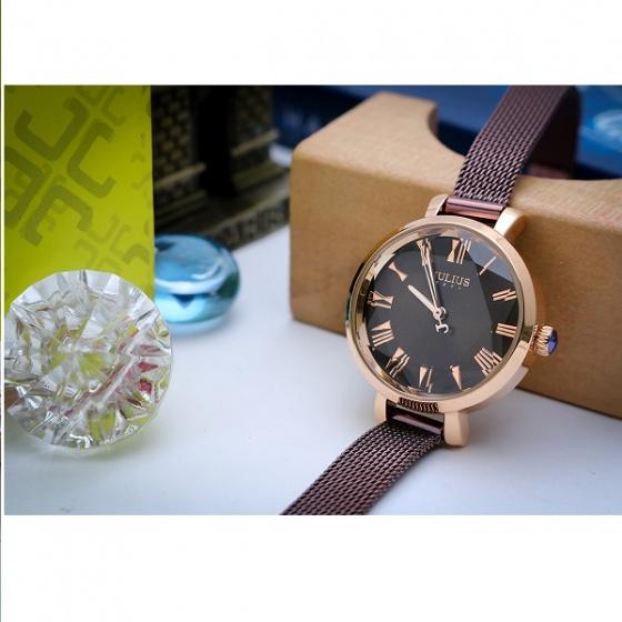 Đồng hồ nữ Julius Hàn Quốc JA-1019E (nâu)
