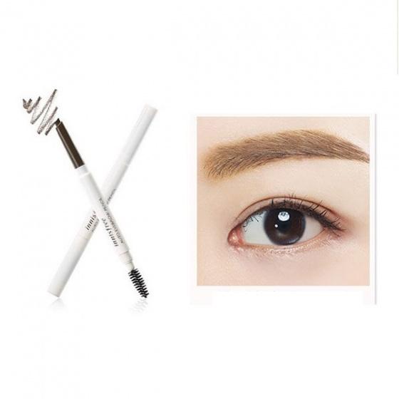 Chì kẻ mày 2 đầu Innisfree auto eyebrow pencil #4 Ash Brown - nâu sáng