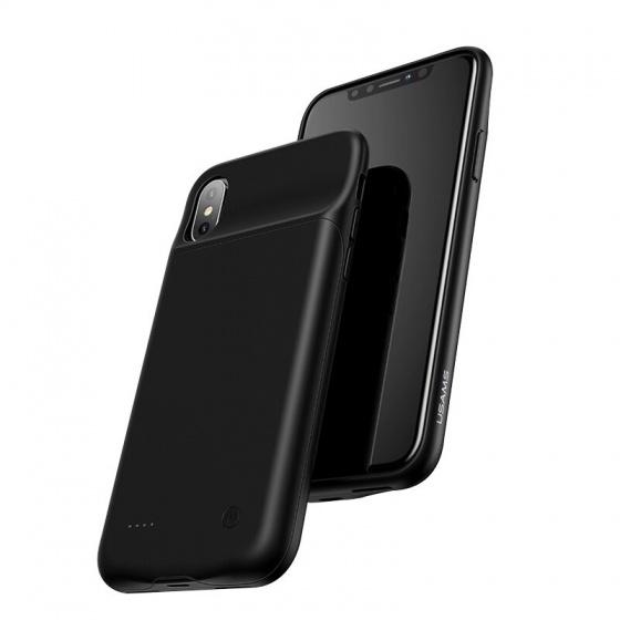 Ốp lưng kèm pin sạc dự phòng cho iPhone X/XS USAMS US-CD43 3200mAh (black)