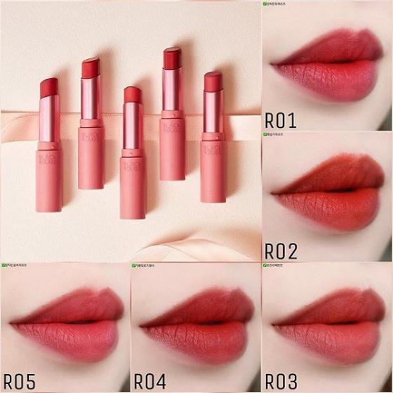 Son thỏi Black Rouge Rose Velvet Lipstick 3,5g # R05 Wild Rose – Hồng đất