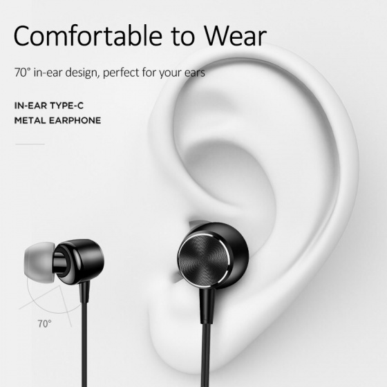 Tai nghe earphone USAMS US-SJ291 EP-31 Inear Type-C (red)