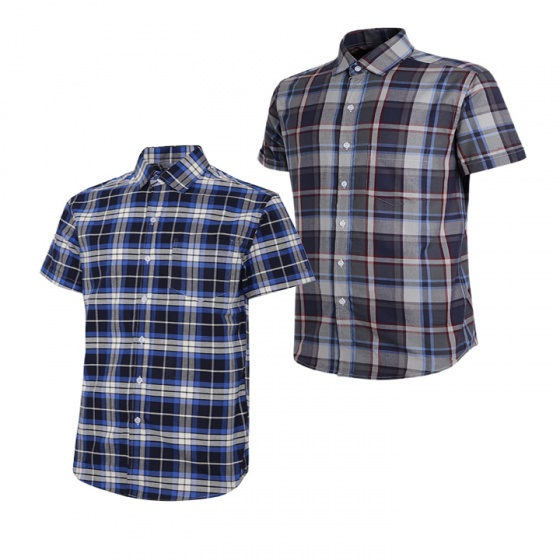 Combo 2 áo sơ mi nam sọc caro Model Fashion cao cấp MSMI2002