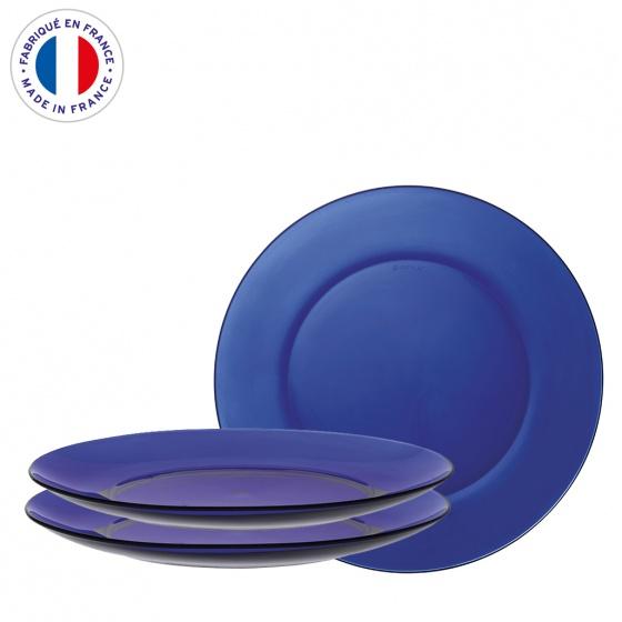 Bộ 3 dĩa cạn thủy tinh chịu lực Duralex Pháp Lys 19 cm