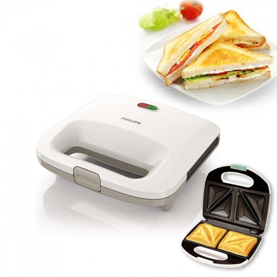 Máy nướng bánh mì Sandwich Philips HD2393 Trắng