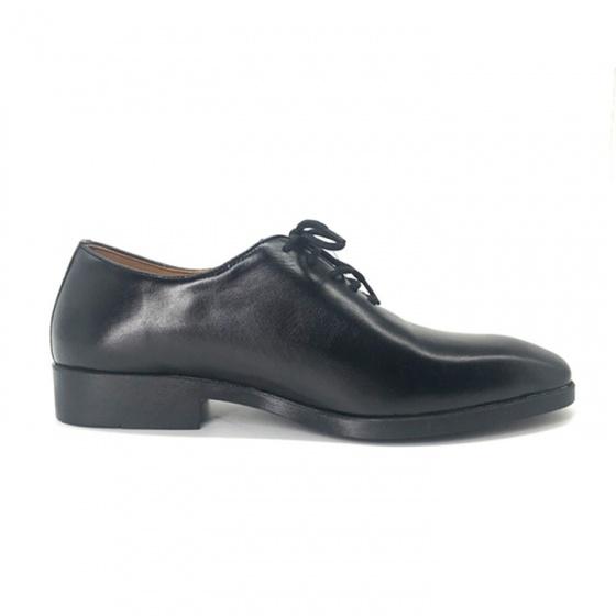 Combo giày buộc dây công sở nam da bò cao cấp N0103B + 1 ví da