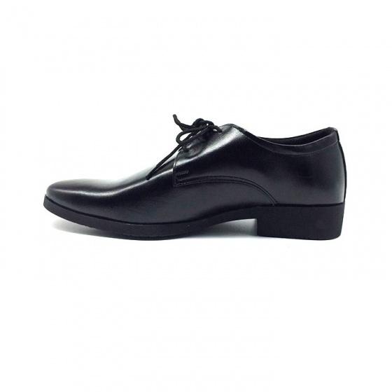 Combo giày công sở buộc dây nam da bò cao cấp N1101BD + 1 ví da Lucacy
