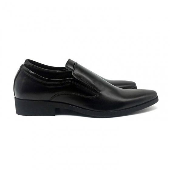 Combo giày lười công sở nam da bò cao cấp N1101MD + 1 ví da Lucacy