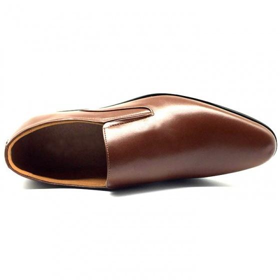 Combo giày lười công sở nam da bò cao cấp N1101MN + 1 ví da Lucacy