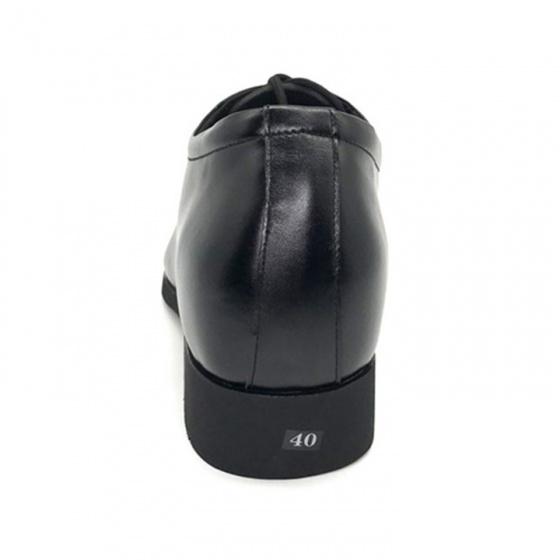 Combo giày công sở nam buộc dây tăng chiều cao 6cm da bò cao cấp N2101BD + 1 ví da Lucacy