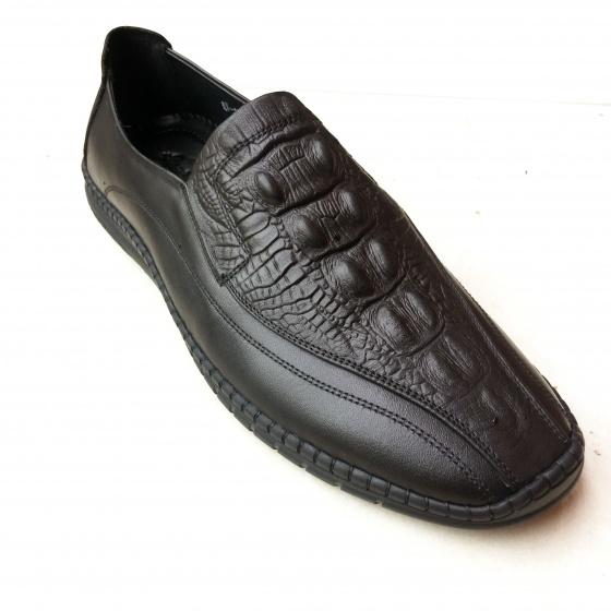 Giày lười nam da bò thật khâu đế siêu mềm