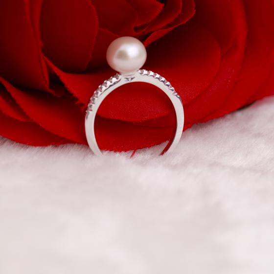 Opal -  nhẫn bạc đính ngọc trai cao cấp _T7