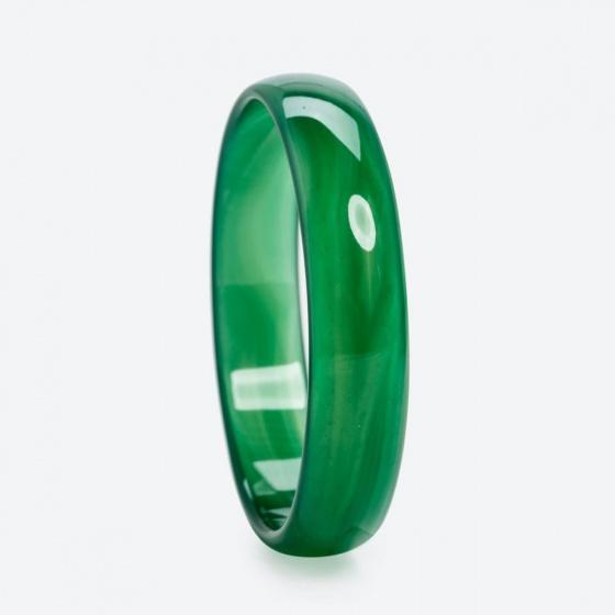 Vòng tay phong thủy đá mã não xanh (ni 52 - 58mm) mệnh hỏa, mộc - Ngọc Quý Gemstones
