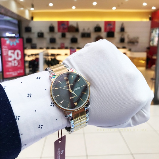 Đồng hồ nam Sunrise DM747SWC chính hãng (full box + thẻ bảo hành 3 năm) kính sapphire chống xước - chống nước - dây thép chống dỉ 316l