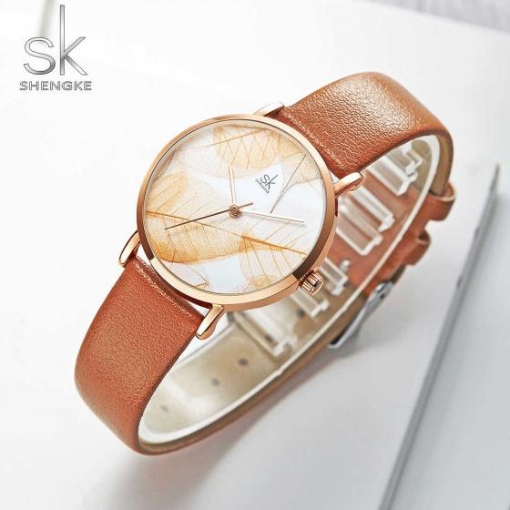 Đồng hồ nữ chính hãng Shengke Korea K0108L-02 nâu