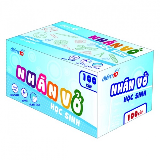 Nhãn vở Điểm 10 TP-NBL01 4 xấp (3 cái/xấp)