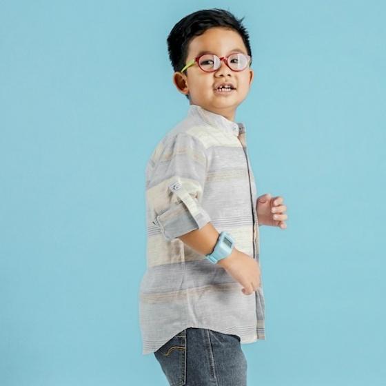 UKID89 - áo sơ mi bé trai (sọc)