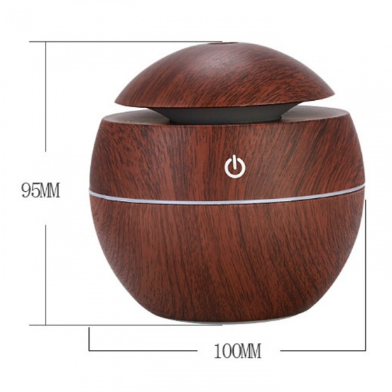Máy phun sương vân gỗ - máy khuếch tán tinh dầu nút bật cảm ứng 130ml