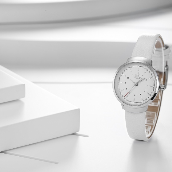 Đồng hồ nữ chính hãng Shengke Korea K8035L-01 trắng