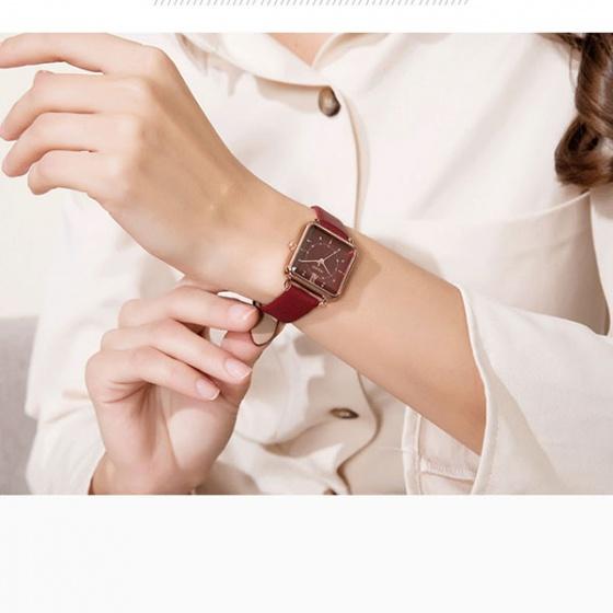 Đồng hồ nữ JA-1123C JULIUS Hàn Quốc dây da (đỏ)