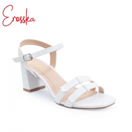 Giày nữ, giày gao gót block heels đế vuông Erosska cao 7cm dây mảnh ET001 màu đen