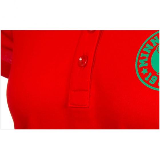 Áo phông nữ ngắn tay có cổ Hàn Quốc Disney Golf DG2LTS095 RD