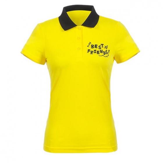 Áo phông nữ ngắn tay có cổ Hàn Quốc Disney Golf DG2LTS090 YE