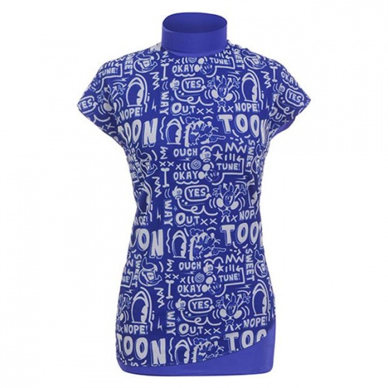 Áo phông nữ ngắn tay cổ lọ Hàn Quốc Disney Golf  DG2LTS047 BL