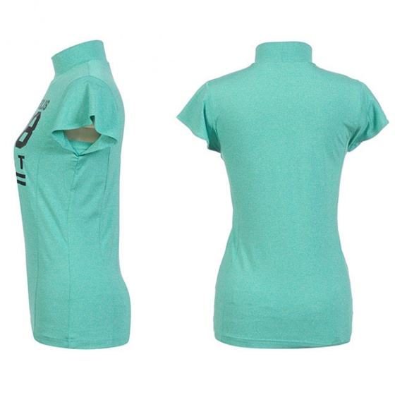Áo phông nữ ngắn tay cổ lọ Hàn Quốc Disney Golf  DG2LTS048 GN
