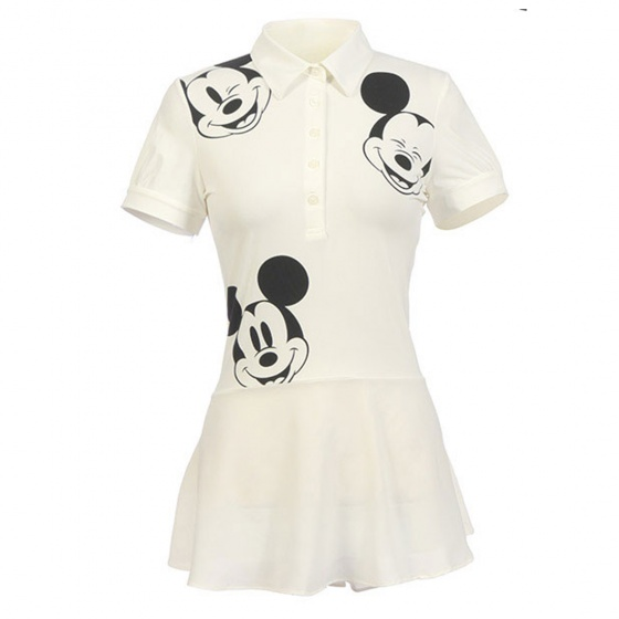Áo váy Hàn Quốc Disney Golf DG2LTS030 WH