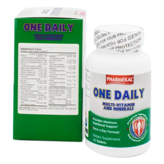 Combo 3 hộp viên uống bổ sung vitamin và khoáng chất One Daily Multivitamin and Mineral Pharmekal - 60 viên