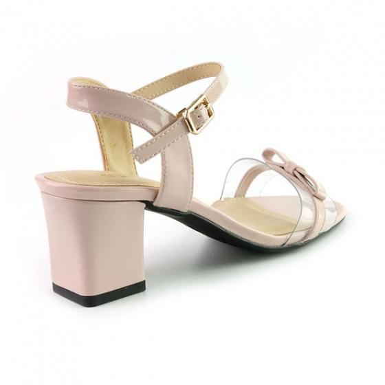 Sandal đế vuông êm chân Sunday DV46 màu hồng
