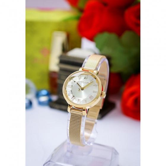 Đồng hồ nữ Julius Hàn Quốc dây thép JA-1019b (vàng)