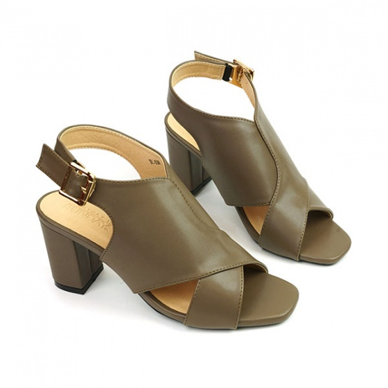 Giày cao gót Sunday DV41 màu nâu