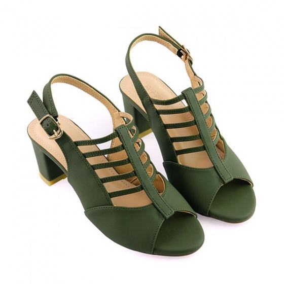 Giày cao gót Sunday DV25 màu xanh rêu