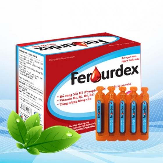 Ferourdex 10ml x 20 ống - bổ sung sắt 3 chống thiếu máu