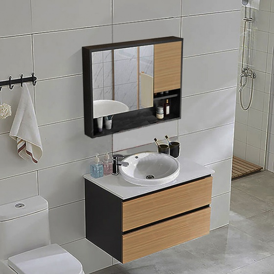 Bộ tủ, chậu, bàn đá, kệ gương Lavabo LV892-2M (sản phẩm chỉ Ship tại HCM và Hà Nội)
