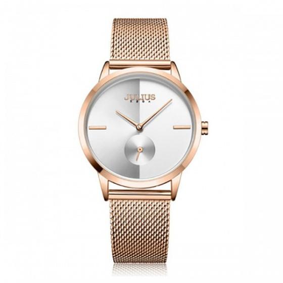 Đồng hồ nữ JA-1110B JULIUS Hàn Quốc dây thép (đồng)