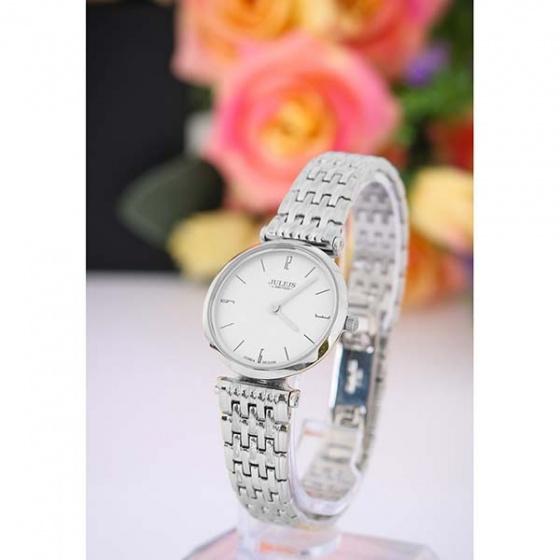 Đồng hồ nữ JAL-032LA JULIUS Hàn Quốc dây thép (trắng bạc)
