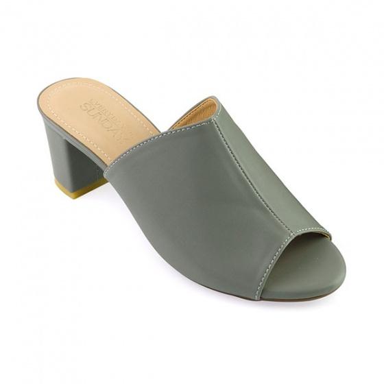 Guốc da thời trang êm chân Sunday GG04 màu xám